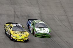Clint Bowyer and David Reutimann