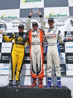 Podium: race winner Jonathan Summerton, second place Simona De Silvestro, third place John Edwards