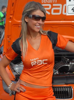 Team RAC's Grid Girl
