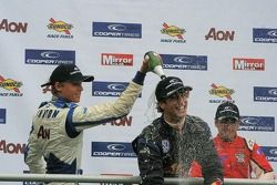 Max Chilton, Daniel Ricciardo & Riki Christodoulou