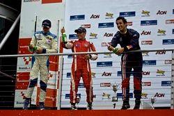 Podium: Max Chilton, Riki Christodoulou et Daniel Ricciardo