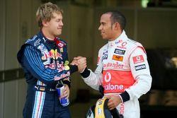 Sebastian Vettel, Red Bull Racing y Lewis Hamilton, McLaren Mercedes