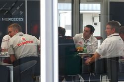 Fota meeting at McLaren with Ross Brawn Team Principal, Brawn GP, Martin Whitmarsh, McLaren, Chief E