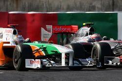 Adrian Sutil, Force India F1 Team, Heikki Kovalainen, McLaren Mercedes