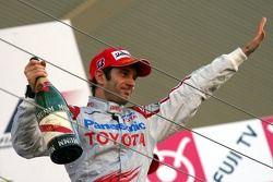 Podium: second place Jarno Trulli, Toyota F1 Team