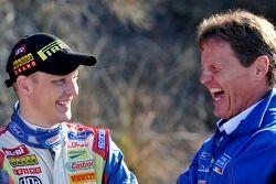 Mikko Hirvonen and Malcolm Wilson share a joke