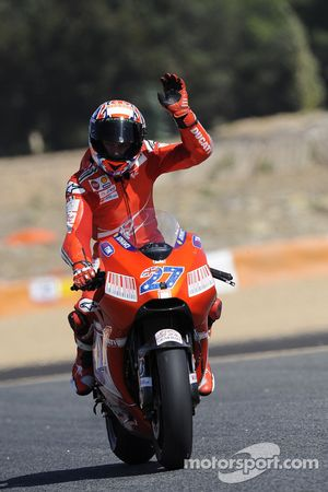 Seconde place pour Casey Stoner, Ducati Marlboro Team