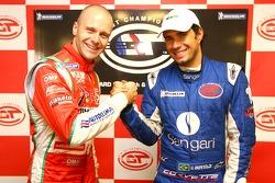 Le poleman GT2 Gianmaria Bruni et le poleman GT1 Enrique Bernoldi