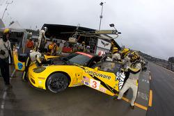 Entrainement pour la #3 Corvette Racing Chevrolet Corvette C6.R: Johnny O'Connell, Jan Magnussen, Antonio Garcia