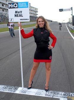 Matt Neal's grid girl