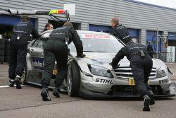 Bruno Spengler, Team HWA AG, AMG Mercedes C-Klasse pushed back to garage
