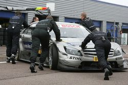 Bruno Spengler, Team HWA AG, AMG Mercedes C-Klasse pushed back to garage