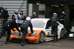 Gary Paffett, Team HWA AG, AMG Mercedes C-Klasse pushed back to garage