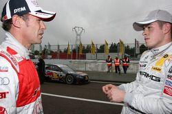 Tom Kristensen, Audi Sport Team Abt Sportsline Audi A4 DTM and Paul di Resta, Team HWA AMG Mercedes
