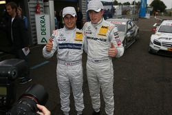 Pole winner Bruno Spengler, Team HWA AG, AMG Mercedes C-Klasse and Paul di Resta, Team HWA AMG Merce