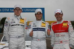 Paul di Resta, Team HWA AMG Mercedes C-Klasse, pole winner Bruno Spengler, Team HWA AG, AMG Mercedes