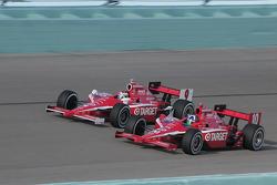 Dario Franchitti, Target Chip Ganassi por delante de Scott Dixon, Target Chip Ganassi