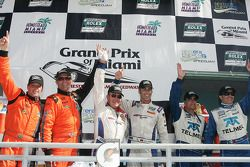 DP podium: class and overall winners Hurley Haywood and Joao Barbosa, second place Scott Pruett and Memo Rojas, third place Oswaldo Negri and Mark Patterson