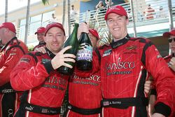 Grand Am Rolex Series 2009 DP champions Jon Fogarty and Alex Gurney celebrate