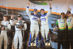 P2 podium: class winners Adrian Fernandez and Luis Diaz, second place Greg Pickett and Klaus Graf, t