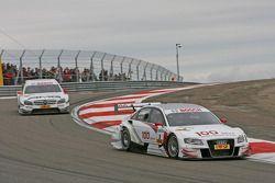 Tom Kristensen, Audi Sport Team Abt Sportsline Audi A4 DTM leads Paul di Resta, Team HWA AMG Mercede