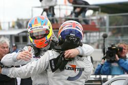 Race winner Gary Paffett, Team HWA AG, AMG Mercedes C-Klasse celebrates with second place Paul di Re