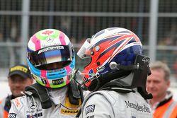 Race winner Gary Paffett, Team HWA AG, AMG Mercedes C-Klasse celebrates with Bruno Spengler, Team HW