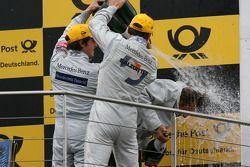 Podium: champagne for Bruno Spengler, Team HWA AG, AMG Mercedes C-Klasse, Gary Paffett, Team HWA AG,