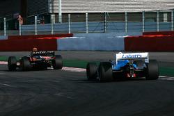 #65 Alain DeBlandre, CART Lola Cosworth; #14 Michael Woodcock, F1 Arrows A21 Hart