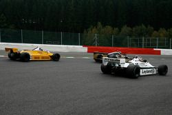 #35 Steve Allen Arrows A1; #33 Jean-Michel Martin Fittipaldi F8; #69 Michael Fitzgerald Williams FW0