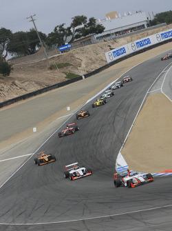 Pace lap: John Edwards, Newman Wachs Racing en tête