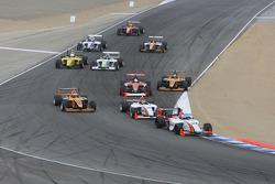 Départ: John Edwards, Newman Wachs Racing en tête