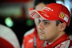 Felipe Massa, Scuderia Ferrari, gets ready for his first F1 test since his accident