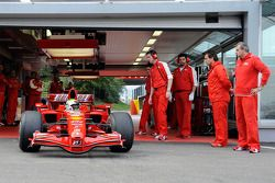 First roll out of Felipe Massa, Scuderia Ferrari in a privately-owned two-year-old F2007 with slick