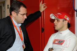 Felipe Massa, Scuderia Ferrari, with Stefano Domenicali