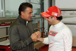 Felipe Massa, Scuderia Ferrari, with Jean Alesi