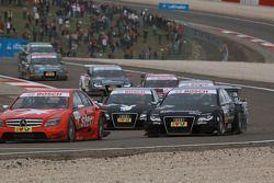 Mathias Lauda, Mücke Motorsport AMG Mercedes C-Klasse and Timo Scheider, Audi Sport Team Abt Audi A4