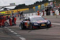 Pit stop for Mattias Ekström, Audi Sport Team Abt Audi A4 DTM