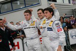 Race winner Gary Paffett, Team HWA AG, AMG Mercedes C-Klasse, second place Paul di Resta, Team HWA A