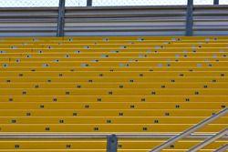 Les tribunes sont vides