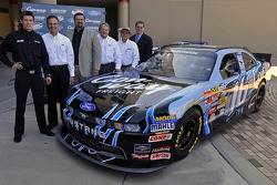 Colin Braun, Brian Wolf, Director, Ford North America Motorsports, Joe Balash, NASCAR Nationwide Series Director, Edsel B. Ford, Member, Board of Directors, Ford Motor Company, Jack Roush, Owner Roush-Fenway Racing and Bill Wynne, Vice President of Marke
