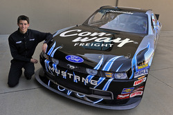 Colin Braun with the 2010 NASCAR Nationwide Series Ford Mustang GT