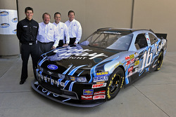 Colin Braun, Edsel B. Ford, Member, Board of Directors, Ford Motor Company, Brian Wolf, Director, Ford North America Motorsports and Doug Hervey, Operations Manager, Ford North America Motorsports