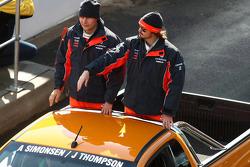 Driver Parade: #88 TeamVodafone: Allan Simonsen, James Thompson