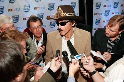 NASCAR Hall of Fame inductee Richard Petty speaks to the media after being named to the inaugural class of the NASCAR Hall of Fame