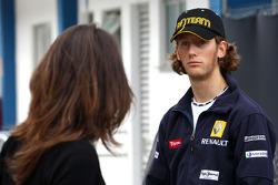 Romain Grosjean, Renault F1 Team ve kız arkadaşı Marion Jolles