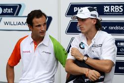 Vitantonio Liuzzi, Force India F1 Team, Robert Kubica, BMW Sauber F1 Team