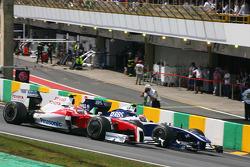 Kamui Kobayashi, Test Driver, Toyota F1 Team and Kazuki Nakajima, Williams F1 Team