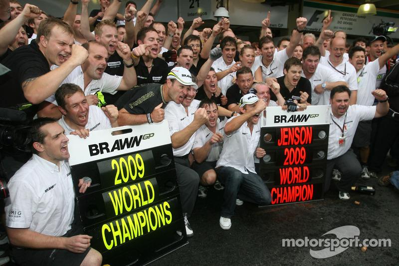 Jenson Button, Rubens Barrichello und das Brawn-Team
