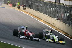 Kamui Kobayashi, Toyota F1 Team y Jenson Button, Brawn GP